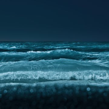 Lake Ontario, Great Lakes of North America, Waves, Body of Water, Night, Cold, Toronto