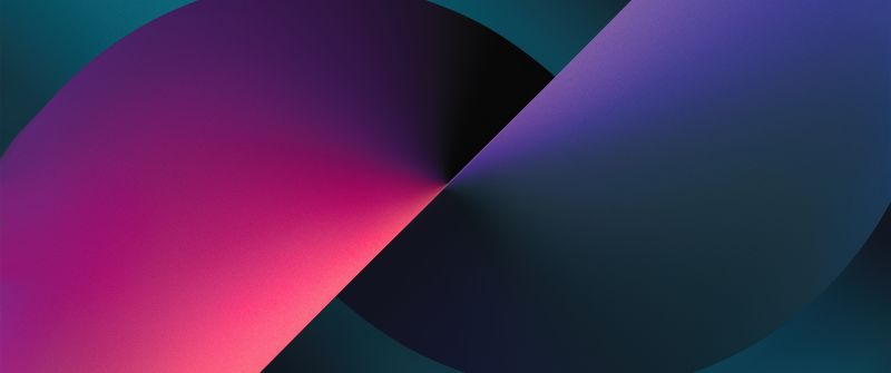 iPhone 13, Stock, iOS 15, Gradient background, iPhone 13 Pro Max, iPhone 13, Violet background, Dark Mode, Night Mode