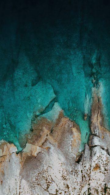 Rocks, Mi Pad 5 Pro, Aerial view, Drone photo, Seashore, Stock